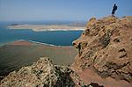 Isla Graciosa et salines del Rio. Ile de Lanzarote.