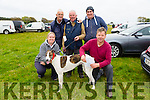 "l-r  Majella Riordan, Dave Nelligan, Donal O'Connell, Stephen Riordan and John O'Sullivan with ""You Figure It Out"" at the Abbeydorney Coursing on Sunday"