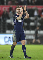 Eric Dier of Spurs applauds the support during the Premier League match between Swansea City and Tottenham Hotspur at the Liberty Stadium, Swansea, Wales on 2 January 2018. Photo by Mark Hawkins / PRiME Media Images.