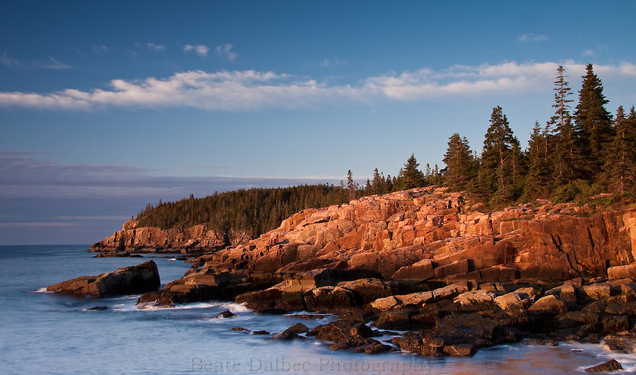Sunrise at the Otter cliffs, Acadia National Park, Maine
