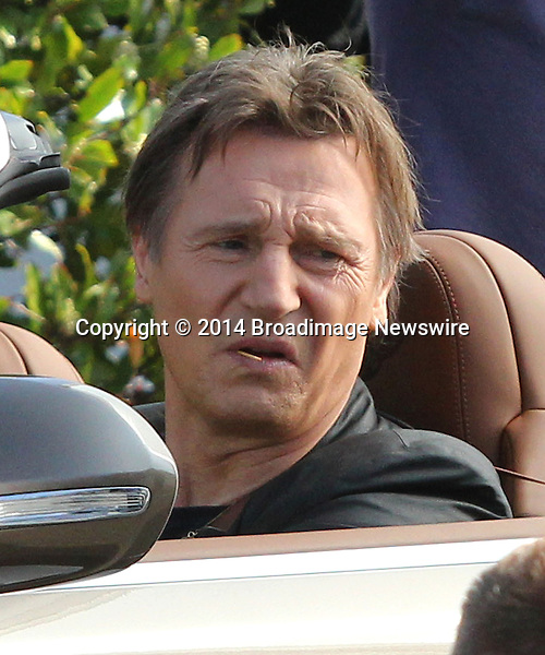 Pictured: Liam Neeson, Jeremy Piven<br /> Mandatory Credit &copy; Patron/Broadimage<br /> Liam Neeson and Jeremy Piven on the set of their new movie<br /> <br /> 2/25/14, West Hollywood, California, United States of America<br /> <br /> Broadimage Newswire<br /> Los Angeles 1+  (310) 301-1027<br /> New York      1+  (646) 827-9134<br /> sales@broadimage.com<br /> http://www.broadimage.com