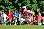 Chris Wood lines up his putt on the 17th green during Round 3 of the BMW PGA Championship at  Wentworth, Surrey, England, 22nd May 2010...Photo Golffile/Eoin Clarke.(Photo credit should read Eoin Clarke www.golffile.ie)....This Picture has been sent you under the condtions enclosed by:.Newsfile Ltd..The Studio,.Millmount Abbey,.Drogheda,.Co Meath..Ireland..Tel: +353(0)41-9871240.Fax: +353(0)41-9871260.GSM: +353(0)86-2500958.email: pictures@newsfile.ie.www.newsfile.ie.
