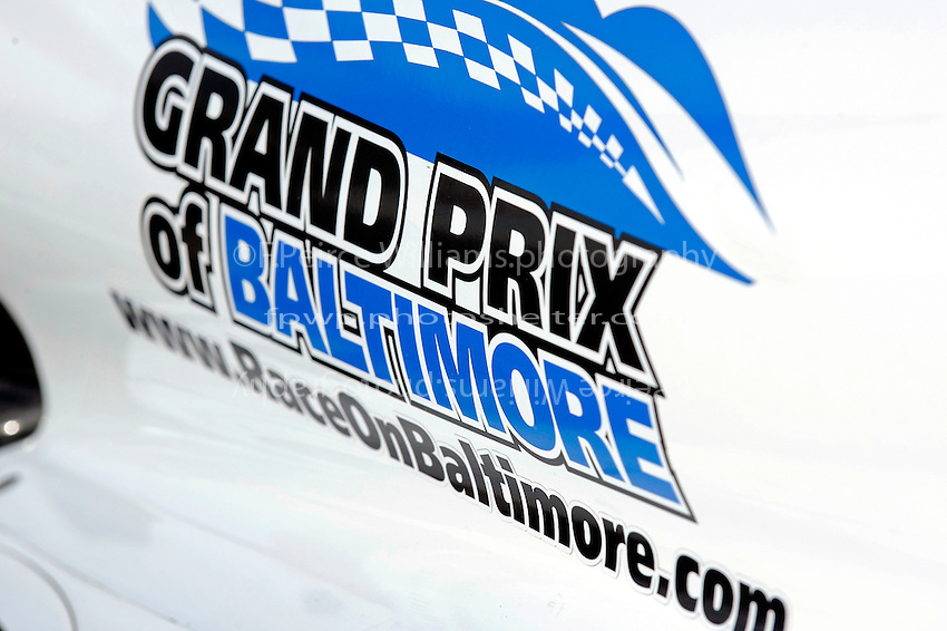 Grand Prix of Baltimore signage on the car of Marco Andretti (#26).
