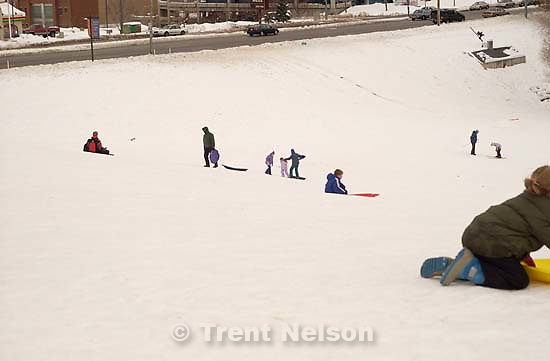 Sledding hill at Sugarhouse Park<br />