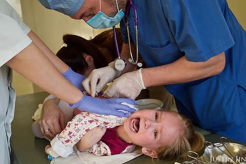 Paulina, 5, is treated for life-threatening pneumonia at the Zhitomyr hospital in Ukraine. <br /> <br /> Her grandparents received radiation exposure during the nuclear disaster in the Chernobyl power station disaster happened on 26 April 1986. <br /> <br /> 30 years on, the area is still too heavily contaminated for human activity.