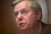 United States Senator Lindsey Graham (Republican of South Carolina) questions US Secretary of State Mike Pomeo during the US Senate State, Foreign Operations, and Related Programs Subcommittee hearing on April 9, 2019.<br /> Credit: Stefani Reynolds / CNP/AdMedia