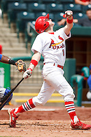 Charlie Cutler (16) April 20th, 2010; Midland Texas Rockhounds vs The Springfield Cardinals at Hammons Field in Springfield Missouri.  The Cardinals won in the 9th inning breaking a 1-1 tie.