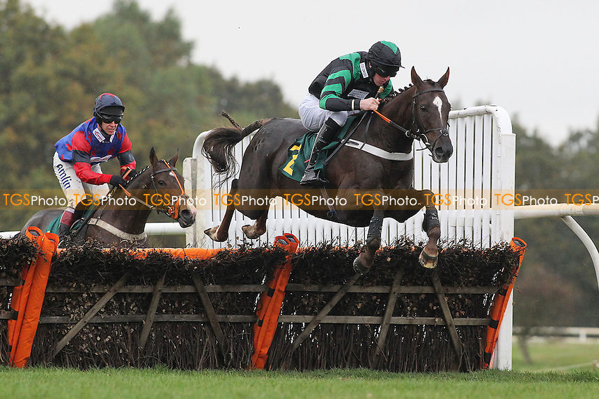 Chain Of Events ridden by Jack Doyle in jumping action during the Michael Scotney Memorial Novices Hurdle - Horse Racing at Fakenham Racecourse, Norfolk - 26/10/12 - MANDATORY CREDIT: Gavin Ellis/TGSPHOTO - Self billing applies where appropriate - 0845 094 6026 - contact@tgsphoto.co.uk - NO UNPAID USE