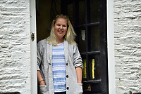 Pictured: Sarah Quick at her house in Pontypridd.<br /> Re: Love letters sent between a young couple over 60 years ago have been found beneath the floorboards of a house by its new owners.<br /> Sarah Quick, 38, was renovating the old cottage that she lives at with her partner and daughter in Pontypridd, south Wales, when she discovered the bundles of letters.<br /> It turned out the letters were sent between a young couple called Rena and John and dated back to the 40s and 50s.<br /> Most of the letters were sent by John who was stationed at RAF stationed in Melksham while Rena was living with her mother in Pontypridd. They tell the tale of a couple at the beginning of a blossoming relationship but separated by circumstances.