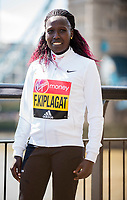 LONDON, ENGLAND 19 APRIL, Florence Kiplagat attends Virgin Money London Marathon Elite Women's photocall at Westminster, London UK 19th April 2017<br /> CAP/PP/GM<br /> &copy;GM/PP/Capital Pictures