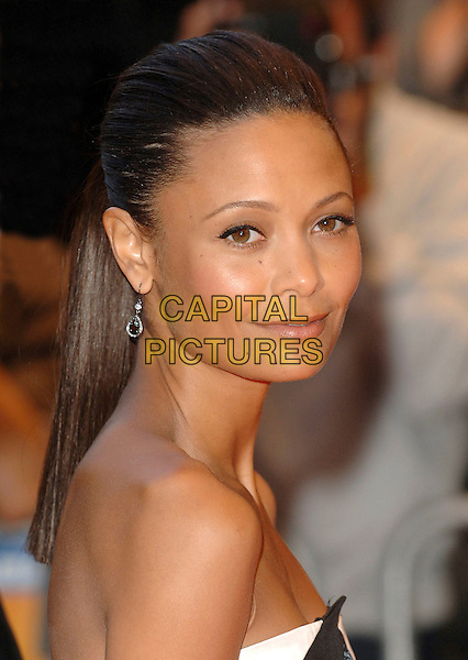 "THANDIE NEWTON.""Run Fat Boy Run"" premiere at the Odeon West End, London, England. .September 3rd, 2007.headshot portrait strapless.CAP/BEL.©Belcher/Capital Pictures"