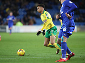1st December 2017, Cardiff City Stadium, Cardiff, Wales; EFL Championship Football, Cardiff City versus Norwich City; Josh Murphy of Norwich City on the attack