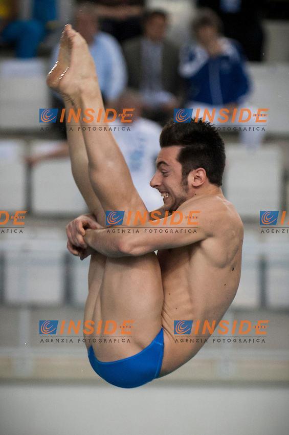 Michele Benedetti ITA bronze medal..Men's 3m springboard finals..07/12/2012..Four Nations Diving Championships 2012..Torino - Italy  ..Dec.07th - 09th 2012..Ph. Giorgio Perottino / Deepbluemedia / Insidephoto