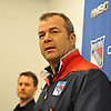 Alain Vigneault, New York Rangers head coach, speaks to the media at Madsion Square Garden Training Center in Greenburgh, NY on Thursday, May 11, 2017. The Rangers' season ended on Tuesday, May 9 when the team lost to the Ottawa Senators four games to two in the second round of the Stanley Cup Playoffs.