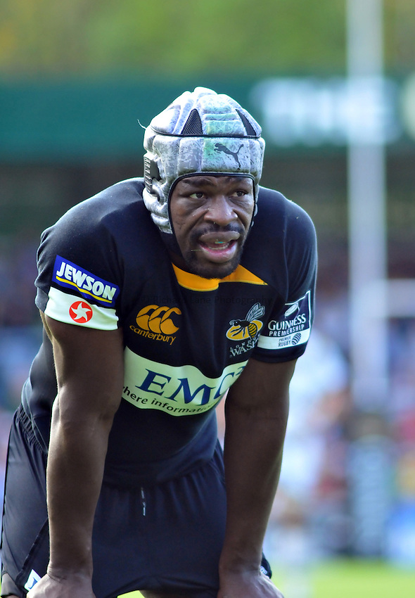 Photo: Tony Oudot/Richard Lane Photography.London Wasps v Northampton Saints. Guinness Premiership. 04/10/2009. .Serge Betsen of Wasps.