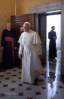 President of Philippines Benigno Simeon Aquino III audience with Pope Francis, Vatican City, Rome, Italy - 04 Dec 2015