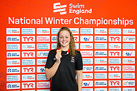 Picture by Allan McKenzie/SWpix.com - 13/12/2017 - Swimming - Swim England Winter Championships - Ponds Forge International Sport Centre - Sheffield, England - Michaella Glenister takes gold in the womens open 400m individual medley.