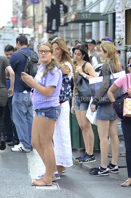WWW.ACEPIXS.COM....August 20,2012, New York City.......Kelly Bensimon out and about with her daughters Teddy and Sea on August 20,2012 in New York City........By Line: Curtis Means/ACE Pictures....ACE Pictures, Inc..Tel: 646 769 0430..Email: info@acepixs.com
