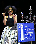 Lauren Ridloff during the 74th Annual Theatre World Awards at Circle in the Square on June 4, 2018 in New York City.