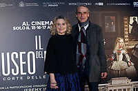 Jeremy Irons with his wife Sinead Cusack<br /> Rome April 9th 2019. Actor Jeremy Irons poses for photographers during the presentation of the film documentary Bicentennial of the The Museum of Prado in Madrid.<br /> photo di Samantha Zucchi/Insidefoto