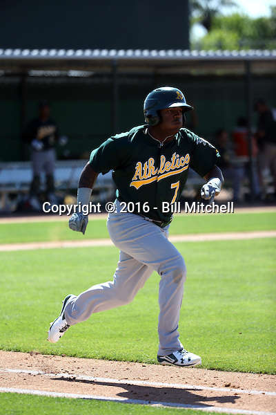 BJ Boyd - Oakland Athletics 2016 spring training (Bill Mitchell)