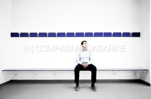 Former Albanian football player Besnik Hasi, currently assistent coach at RSC Anderlecht (Belgium, 21/06/2013)