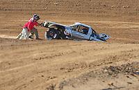Apr 16, 2011; Surprise, AZ USA; LOORRS driver Jeffrey Kargola (2) is pushed by officials during round 3 at Speedworld Off Road Park. Mandatory Credit: Mark J. Rebilas-