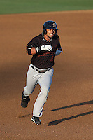 Juan Silva #6 of the Bakersfield Blaze runs the bases during a game against the Rancho Cucamonga Quakes at LoanMart Field on June 9, 2014 in Rancho Cucamonga, California. Bakersfield defeated Rancho Cucamonga, 3-1. (Larry Goren/Four Seam Images)