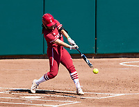 Stanford, California - March 30, 2019: Stanford Softball loss to Oregon 7-2 at Boyd & Jill Smith Family Stadium in Stanford, California.
