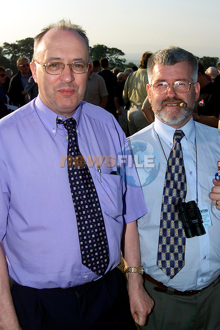 Paddy Kierans and Joe Clarke at the Bellewstown Races..Picture Paul Mohan Newsfile