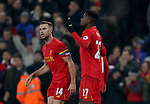 Divock Origi of Liverpool celebrates scoring the first goal during the Premier League match at the Anfield Stadium, Liverpool. Picture date: November 26th, 2016. Pic Simon Bellis/Sportimage