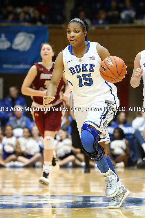 27 January 2013: Duke's Richa Jackson. The Duke University Blue Devils played the Boston College Eagles at Cameron Indoor Stadium in Durham, North Carolina in an NCAA Division I Women's Basketball game. Duke won the game 80-56.