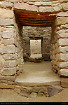 Exterior Doorways, West Ruin Anasazi Hisatsinom Chacoan Complex, Aztec Ruins National Monument, Aztec, New Mexico