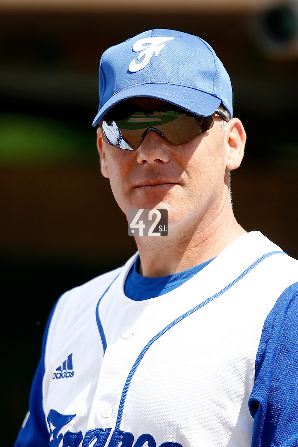 23 June 2011: Philippe Dedea of Team France is seen during USSSA 5-3 win over France, at the 2011 Prague Baseball Week, in Prague, Czech Republic.