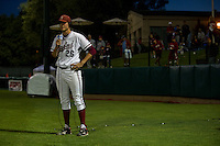 STANFORD, CA--Winning pitcher Mark Appel speaks with ESPN after a win in the first round of the NCAA Regional as the Stanford Cardinal took on the Fresno State Bulldogs at Sunken Diamond field.