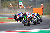 June 4th 2017, Mugello Circuit, Tuscany, Italy; MotoGP Grand Prix of Italy, Race day;  MAVERICK VINALES -  MOVISTAR YAMAHA ahead of ANDREA DOVIZIOSO DUCATI TEAM