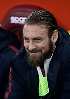 Calcio, Serie A: AS Roma - Sampdoria, Roma, stadio Olimpico, 28 gennaio 2018.<br /> Roma's Daniele De Rossi waits for the start of the Italian Serie A football match between AS Roma and Sampdoria at Rome's Olympic stadium, January 28, 2018.<br /> UPDATE IMAGES PRESS/Isabella Bonotto