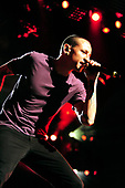 Linkin Park - Chester Bennington - performing live at The First Midwest Ampitheatre in Chicago, Illinois. <br /> USA - Aug.24, 2012.  P[hoto credit:  Gene Ambo/IconicPix