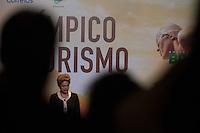 BRASILIA, DF, 07.10.2015 - DILMA-OLIMPICO -  A presidente Dilma Rousseff, durante a cerimônia Ano Olímpico para o Turismo, no  Centro de Convenções Ulysses Guimarães, nessa quarta-feira.(Foto:Ed Ferreira / Brazil Photo Press/Folhapress)
