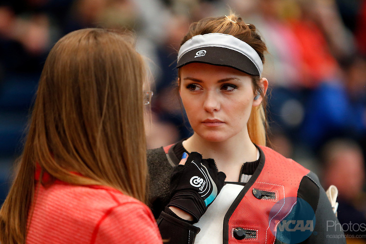 12 MAR 2016:  NCAA Division I Men's and Women's Rifle Championship held at the Stile Athletics Field House in Akron, OH.  West Virginia won the championship with a score of 4703.  Jay LaPrete/NCAA Photos