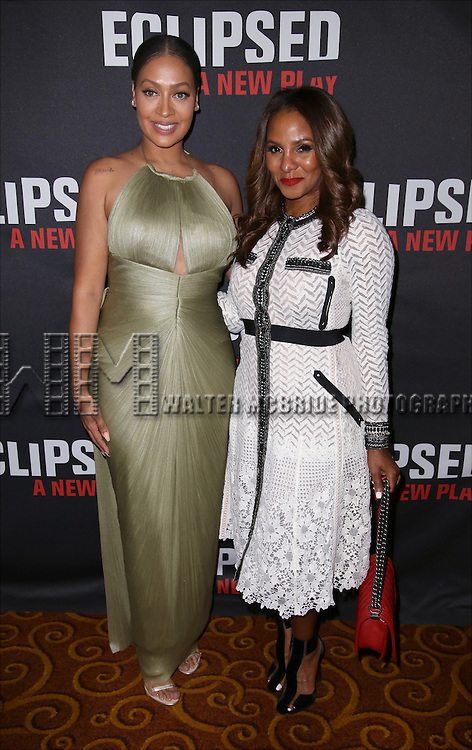 La La Anthony, Marvet Britto attends the 'Eclipsed' broadway opening night after party at Gotham Hall on March 6, 2016 in New York City.