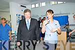 Oliva O'Rahilly CNM2 Edoscopy Unit KGHT, show the Minister of Health James O'Reilly around the newly opened Endoscopy Unit on Monday