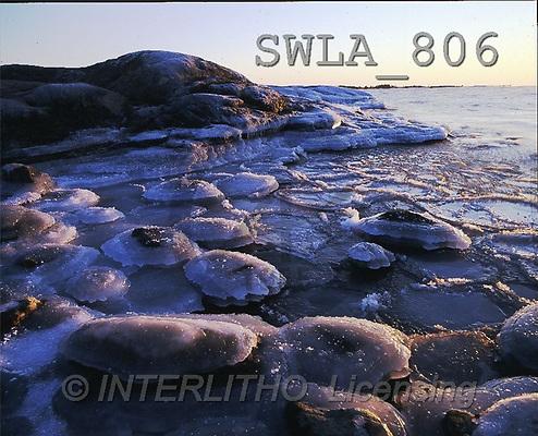 Carl, CHRISTMAS LANDSCAPE, photos, frozen coast(SWLA806,#XL#) Landschaften, Weihnachten, paisajes, Navidad