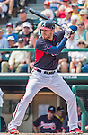 19 March 2015: Atlanta Braves first baseman Freddie Freeman in Spring Training action against the Miami Marlins at Champion Stadium in the ESPN Wide World of Sports Complex in Kissimmee, Florida. The Braves defeated the Marlins 6-3 in Grapefruit League play. Mandatory Credit: Ed Wolfstein Photo *** RAW (NEF) Image File Available ***