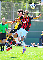 BUSC U14 Premiere battle AC Milan at the  2010 BUSC Summer Classic participants in Pleasanton California August 14, 2010. (Photo by Alan Greth)
