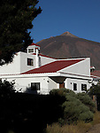 Property below the peak of Mount Teide, the highest mountain in Spain, Tenerife, Canary Islands.