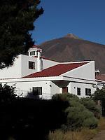 Property below the peak of Mount Teide, the highest mountain in Spain, Tenerife, Canary Islands.