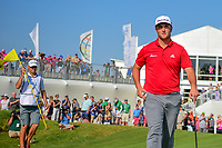 Jon Rahm (ESP) after sinking his putt on 15 during round 7 of the World Golf Championships, Dell Technologies Match Play, Austin Country Club, Austin, Texas, USA. 3/26/2017.<br /> Picture: Golffile | Ken Murray<br /> <br /> <br /> All photo usage must carry mandatory copyright credit (&copy; Golffile | Ken Murray)