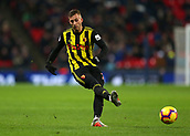 30th January 2019, Wembley Stadium, London England; EPL Premier League football, Tottenham Hotspur versus Watford; Gerard Deulofeu of Watford passing the ball into midfield