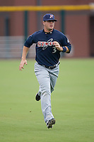 Matt LaPorta (3) of the Huntsville Stars gets loose in the outfield at the Baseball Grounds in Jacksonville, FL, Wednesday June 11, 2008.